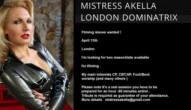 London-Mistress-Akella-filiming