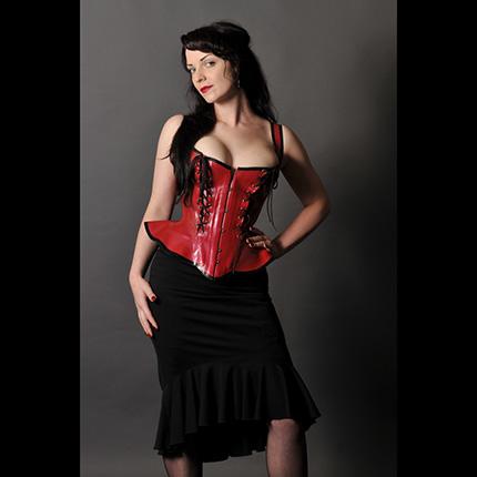 vianne red corset